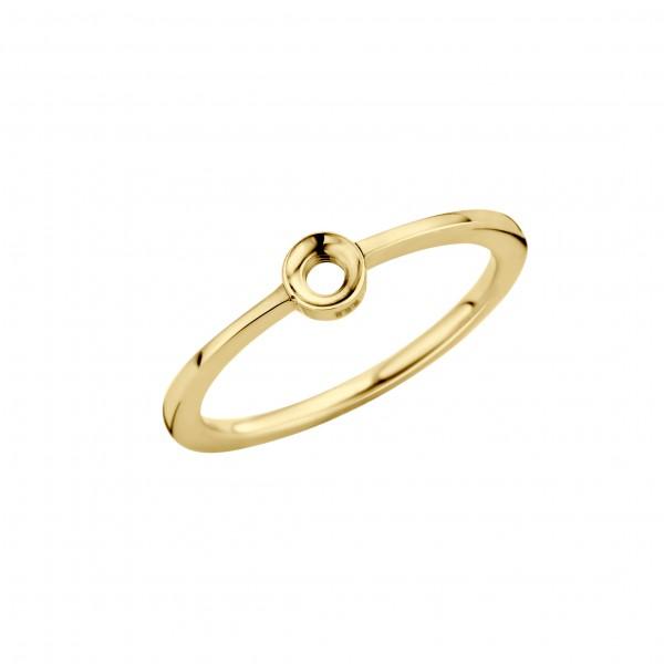 Melano twisted Petite Ring Edelstahl goldfarben beschichtet TR15 GD 01