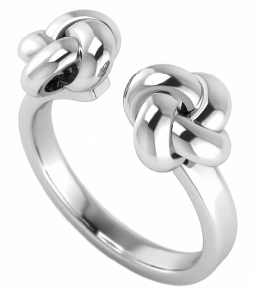 annika plum offener Ring open rings Knoten offen AP Sterlingsilber 1005