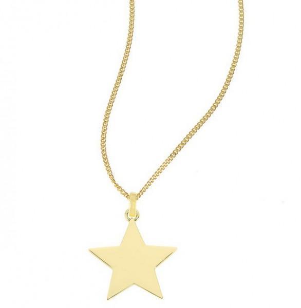 """So Cosi """"Lucky star"""" Halskette, Collier, Silber goldfarben plattiert ohne Gravur PI-003"""