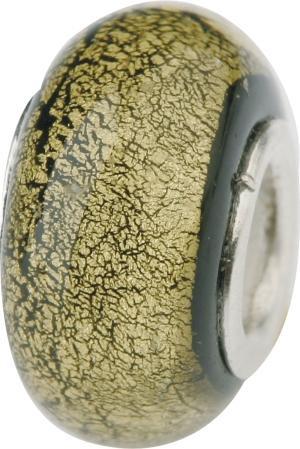 Murano Bead, Murano Glaskugel für Bettelarmband schwarz, GPS 14 von Charlot Borgen Design