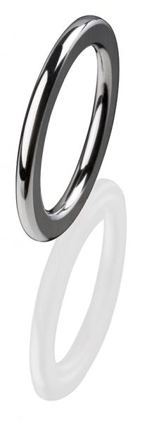 Ernstes Design Vorsteckring, Beisteckring, ED vita, Ring aus Edelstahl 2 mm R253 poliert