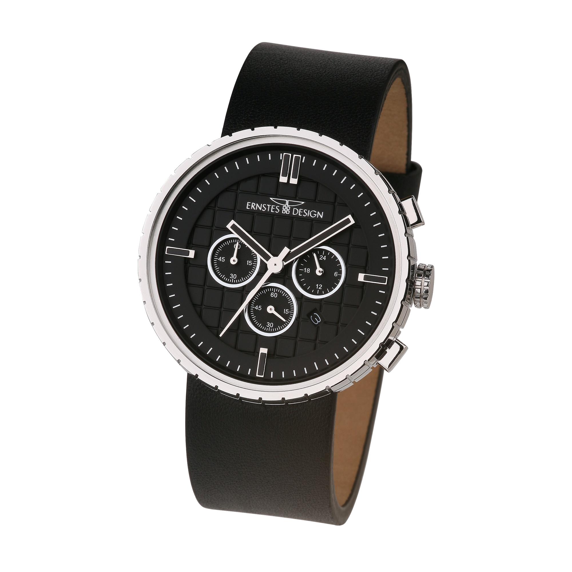 ernstes design herren armbanduhr chronograph edelstahl. Black Bedroom Furniture Sets. Home Design Ideas