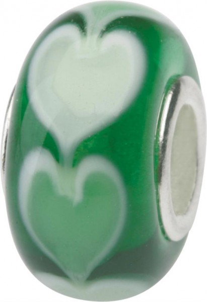 Murano Bead, Murano Glaskugel für Bettelarmband grün, GPS 08 von Charlot Borgen Design
