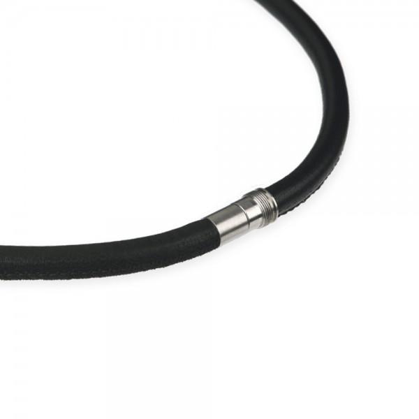 Ernstes Design EDvita Kette K135.SW Leder mit Magnetverschluss Ø ca. 6 mm