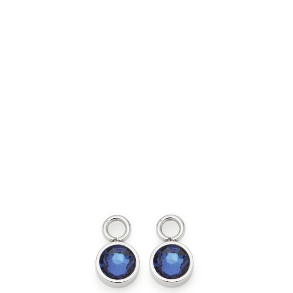 Leonardo Beauty´s Einhänger für Creolen, Nana blue, Edelstahl / Glas 016763