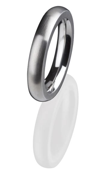 Ernstes Design Vorsteckring, Beisteckring, schmaler Ring aus Edelstahl R 251 mattiert 4 mm ED VITA