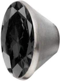 Melano Edelstahl Fassung Aufsatz schwarz für Ring von MelanO Schmuck zum Wechseln MO1SR 4066