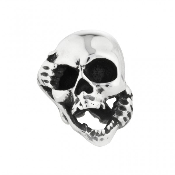 Rebeligion Schmuck Totenkopf Anhänger Large / Men Bead Black Rock von Rebeligion True Silver 15-0080