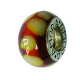 Piccolo Anhänger, Charm, Bead, Kugel APF 044 Emaillekugel mit Silberkern von Picccolo Schmuck