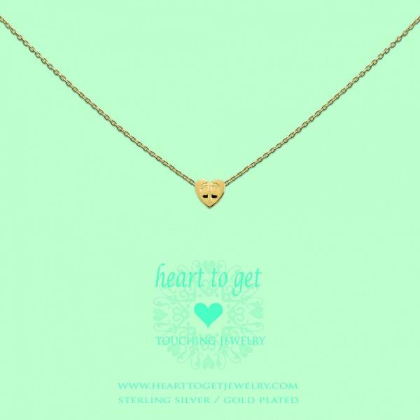 Heart to get Anhänger kleines Herz mit Fußspuren Silber goldfarben S176BAB13G