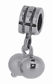 Piccolo Silber Anhänger mit Perlenoptik, Charms, Bead Silber APJ 023 von Piccolo das Original