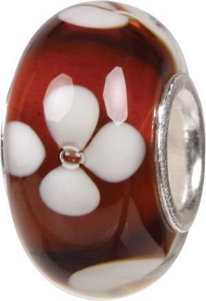 Murano Bead, Murano Glaskugel für Bettelarmband braun, GPS 03 von Charlot Borgen Design