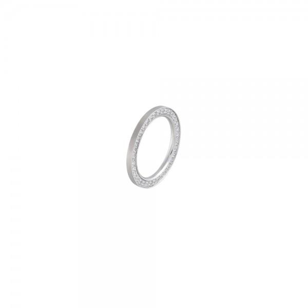 Ernstes Design Vorsteckring, Beisteckring, ED vita, schmaler Ring aus Edelstahl 2 mm R292 WH
