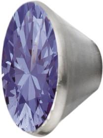 Melano Edelstahl Fassung Aufsatz lavendel für Ring von MelanO Schmuck zum Wechseln MO1SR 4066