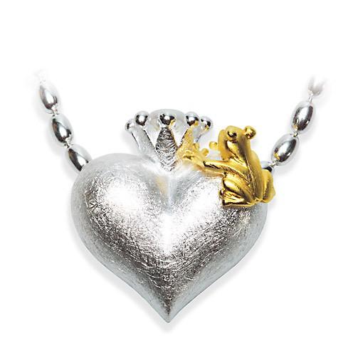 Drachernfels Frosch Anhänger Silber mit Perle D FR 372 Drachenfels Design Froschkönig klein