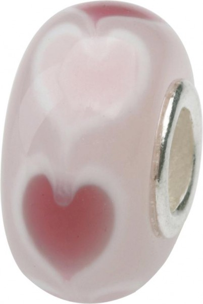 Murano Bead, Murano Glaskugel für Bettelarmband hellrosa, GPS 08 von Charlot Borgen Design