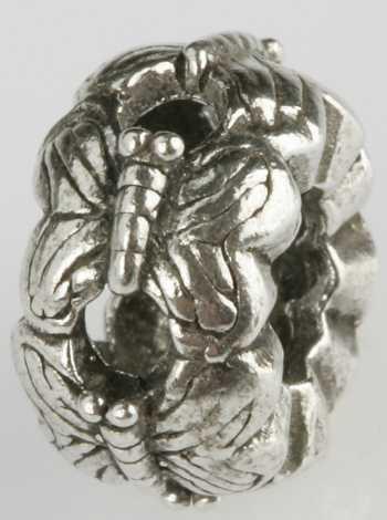 Silberkugel geschwärzt, Schmetterling, Charlot Borgen Design