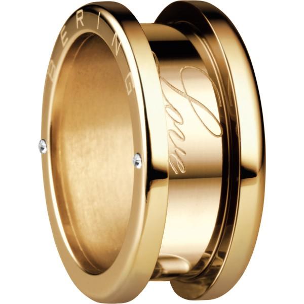 Bering 520-20-X4 Kombinationsring Basisring / Außenring Breit Edelstahl goldfarben