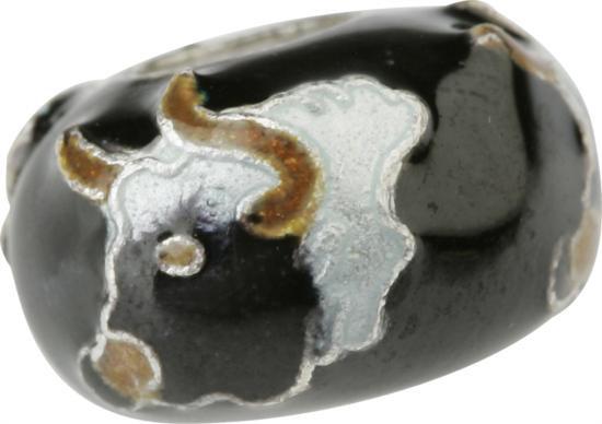 Emaillekugel mit Silberkern, Charm, Charlot Borgen Design