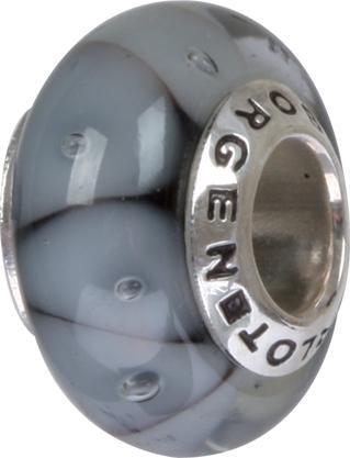 Murano Bead, Murano Glaskugel für Bettelarmband black, GPS 88 von Charlot Borgen Design